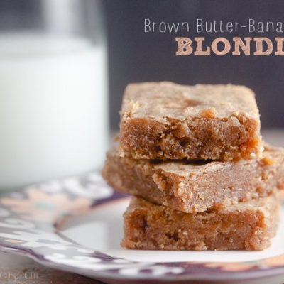 Brown Butter Banana Blondies