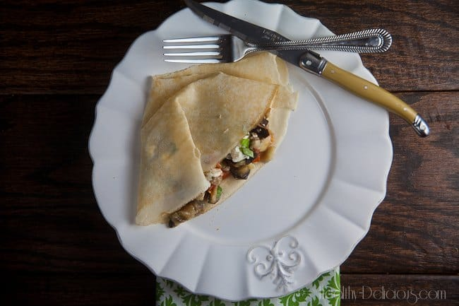 roasted ratatouille crepes