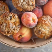 Roasted Peach Muffins with Cinnamon Streusel 18