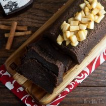 spiced rum cake with caramel pears