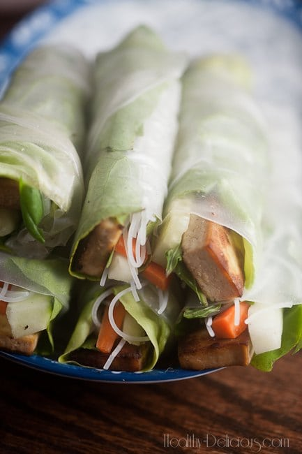 gingery tofu summer rolls