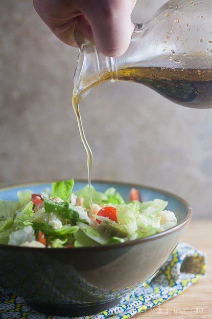 Chopped Salad with Sweet Italian Dressing   Healthy. Delicious.
