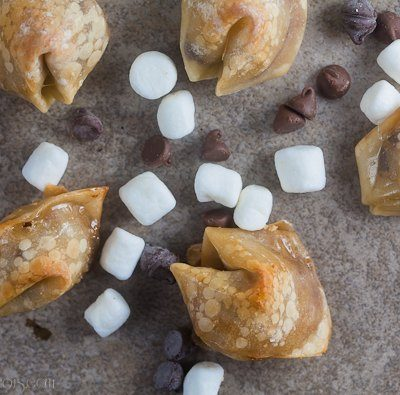 Baked S'Mores Wontons + Giveaway