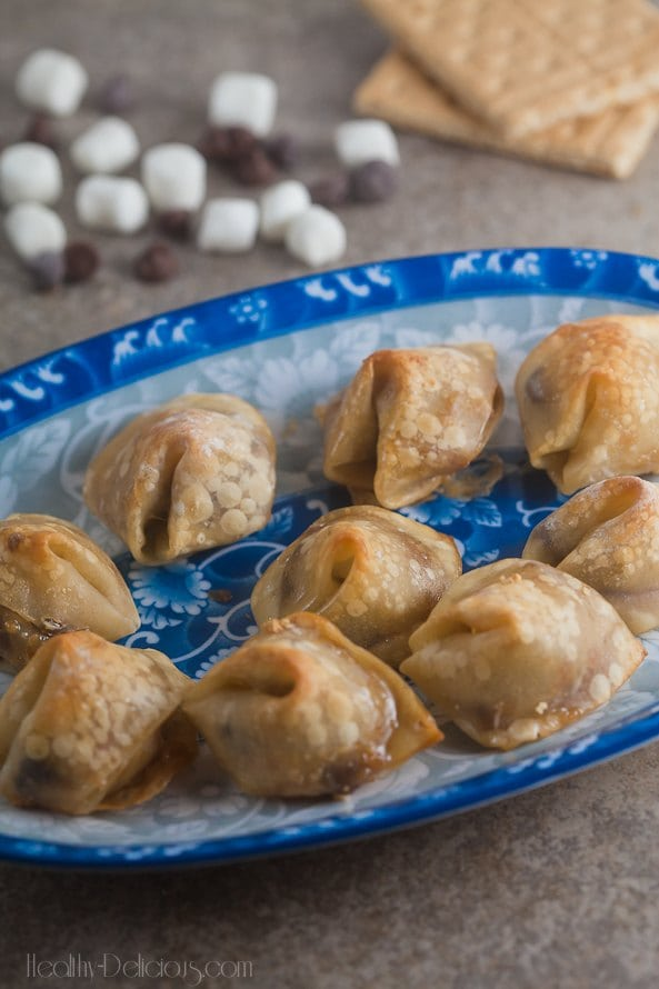 Baked S'mores Wontons…from Healthy Delicious