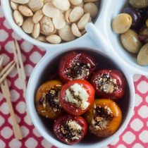 Goat Cheese Stuffed Peppadew Peppers. Perfect as tapas or a light snack!