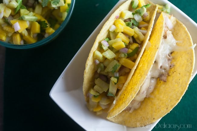 Jerk Chicken Tacos with Tropical Salsa