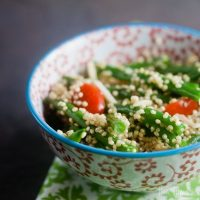 quinoa salad with herb dressing | Healthy. Delicious