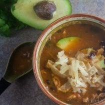 Easiest Ever Chicken Tortilla Soup | Healthy-Delicious.com