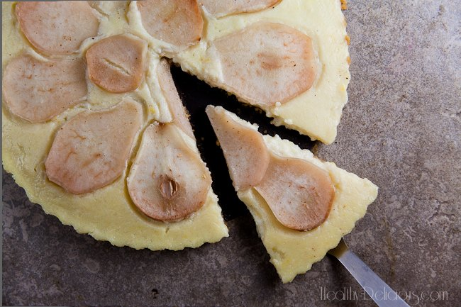 Pear and Ginger Buttermilk Tart | Healthy-Delicious.com