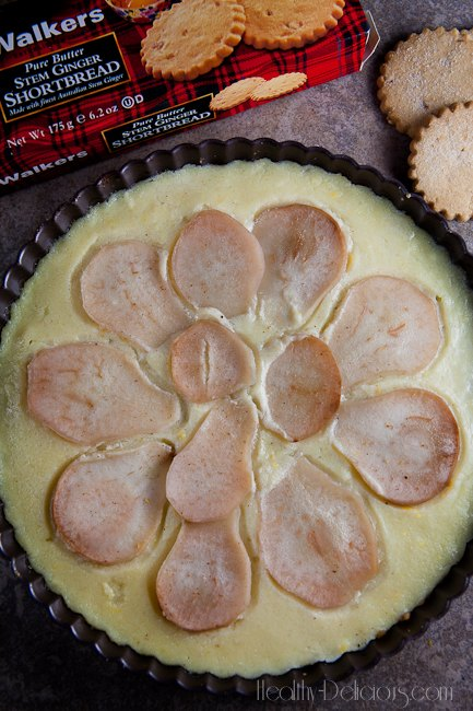 Pear and Ginger Buttermilk Tart   Healthy-Delicious.com