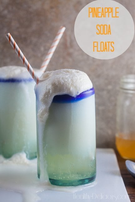 Homemade Pineapple Soda Floats | Healthy-Delicious.com