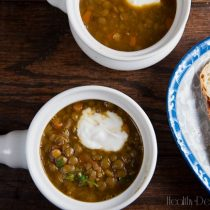 Roasted Eggplant and Lentil Soup | Healthy. Delicious.