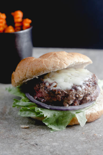 jalapeno popper stuffed burger from @HealthyDelish