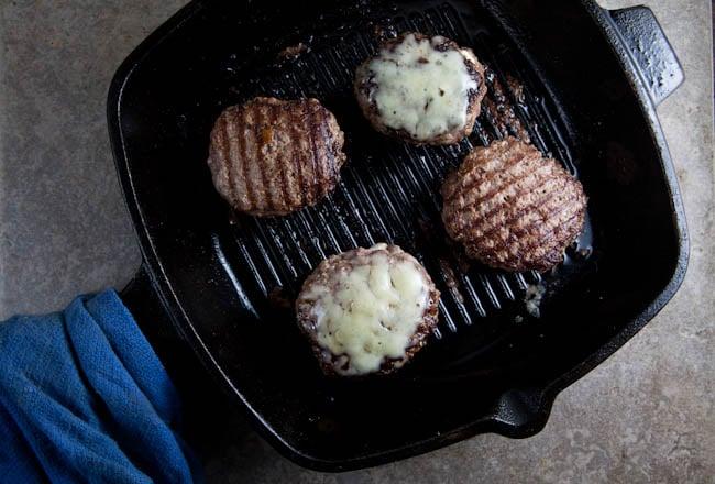 jalapeno popper stuffed burger from @HealthyDelish