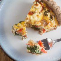 quiche provencale | healthy-delicious.com