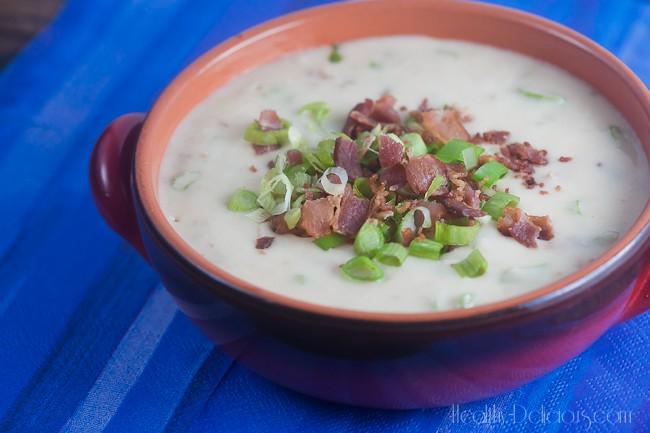 spicy bacon and scallion dip | healthy-delicious.com
