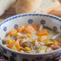 Jamaican Sweet Potato Chowder from @HealthyDelish