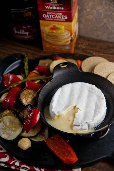 Baked Brie with Roast Vegetables - Healthy. Delicious.