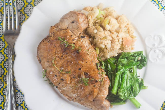 Pork Chops with Cider Pan Sauce - Healthy. Delicious.