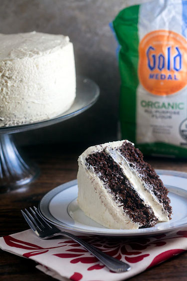 Chocolatiest Chocolate Cake (with Egg Nog Icing!!) | Healthy-Delicious.com