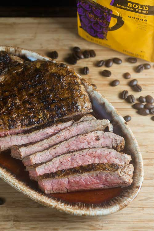 Coffee Rubbed Flank Steak – Ready in under 15 minutes!