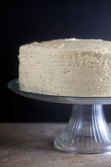 Chocolate Cake with Eggnog Icing