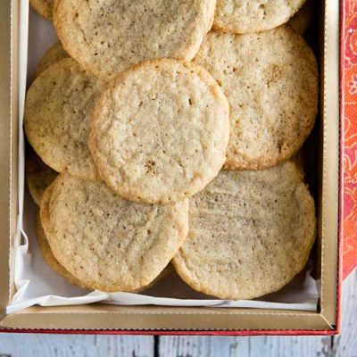 Maple-Walnut Butter Cookies