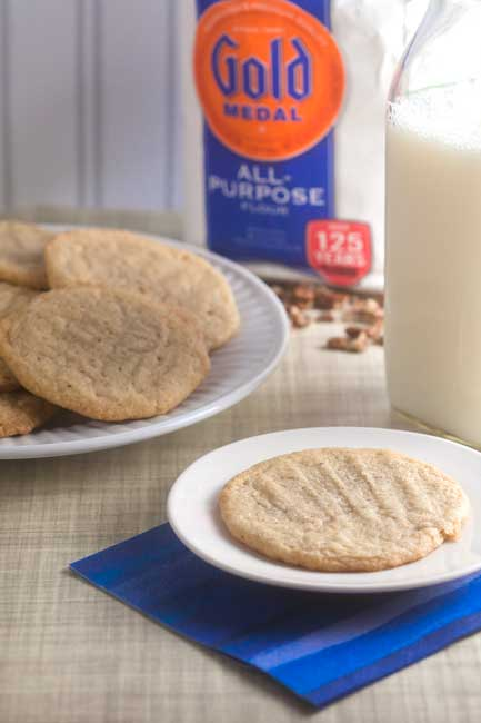 Maple-Walnut Butter Cookies from @HealthyDelish