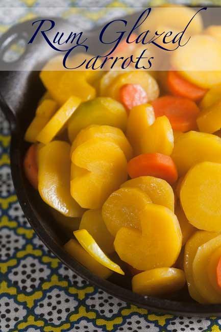 Rum Glazed Carrots #CaptainsTable