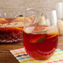 Spiced Cranberry Sangria with Rum #CaptainsTable