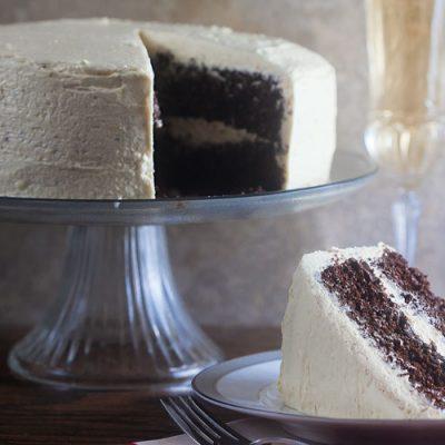 Chocolatiest Chocolate Cake {w/Eggnog Icing!}