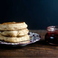 Homemade Crumpets with Strawberry Balsamic Jam | @HealthyDelish