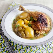 Lemon Chicken with Olives and Potatoes   @HealthyDelish