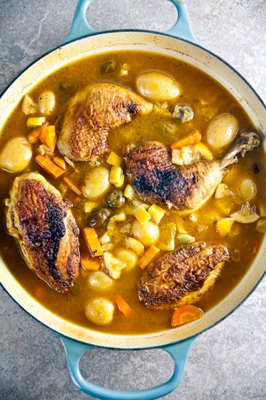 This lemon chicken is the perfect one-pot meal! A slow braise means ...