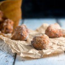 Spiced Banana Donut Holes | @HealthyDelish