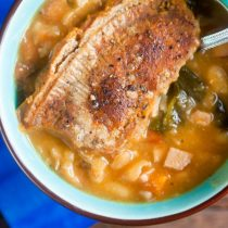 Canadian Bacon and White Bean Pot Pie   @HealthyDelish