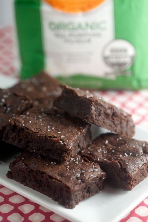 Chocolate Brownies with Vanilla Salt | @HealthyDelish