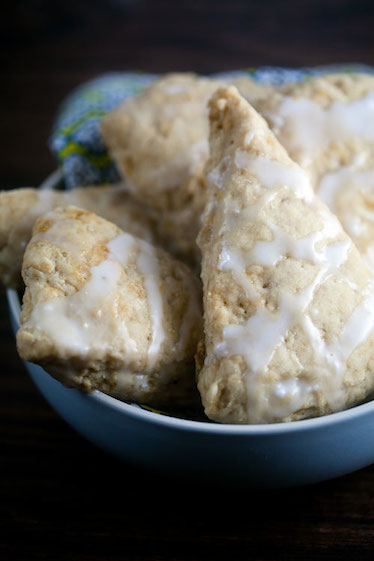 Lemon Ginger Scones | @HealthyDelish