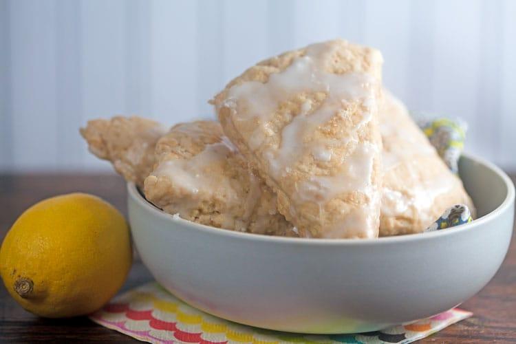 Lemon Ginger Scones | @HealthyDelish
