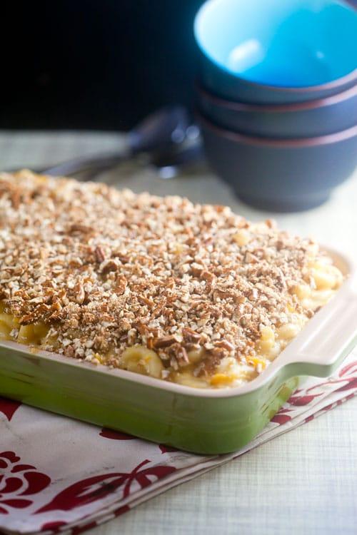 Pretzel Crusted Macaroni and Cheese   @HealthyDelish