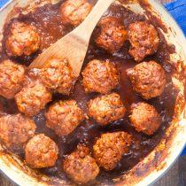 Meatballs in Homemade Enchilada Sauce 8