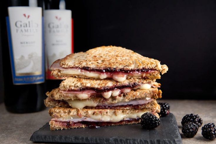 Brie and Blackberry Grilled Cheese 1
