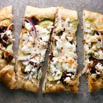 Sundried Tomato and Zucchini Pizza with Goat Cheese // @HealthyDelish