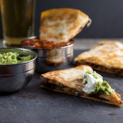 Sweet Potato and Sausage Quesadillas