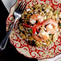 Warm Barley Salad with Roast Shrimp and Blood Orange Vinaigrette // @HealthyDelish