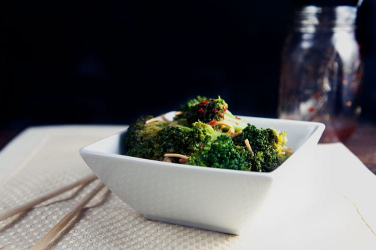 Spicy Broccoli Saute is suach an easy side dish – on the table in under 20 minutes! // @HealthyDelish