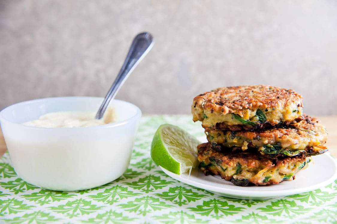 Sweet Potato and Quinoa Patties with Curry Sauce | Healthy. Delicious.