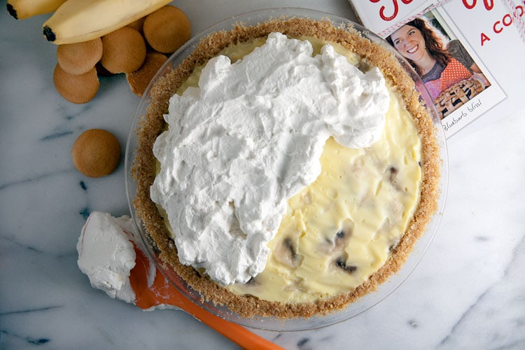 Homeamde Banana Cream Pie with Vanilla Wafer Crust // @HealthyDelish