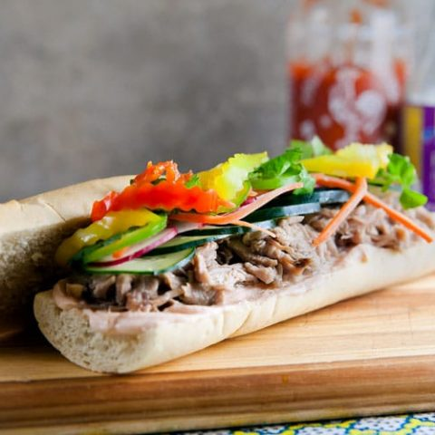 Pulled Pork Banh Mi from Love Your Leftovers // @HealthyDelish