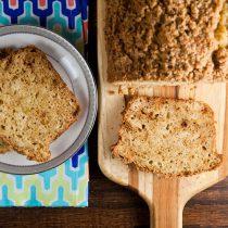 Pear Bread with Cardamom Crumble // @HealthyDelish